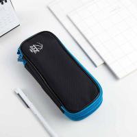 得力(deli)66667 笔袋 多功能大容量多层铅笔收纳 单个 蓝色