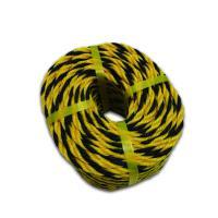 安赛瑞 10859 黄黑警示绳 尼龙绳 聚乙烯老虎绳 标志绳 安全绳 Φ0.7cm×50m 一捆 黄黑色