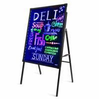 得力(deli)8733 电子荧光板 A型架LED灯手写50*70cm 单块 黑色