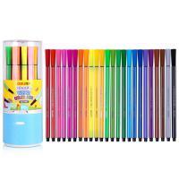 得力(deli) 7067 绚丽多彩可洗水彩笔/绘画笔 24色/盒 整盒装