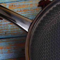满汉全席 MH-FC32CH 烹饪锅具 蜂巢新一代炒锅不锈钢带玻璃盖32cm 起订量500个 单个