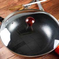 满汉全席 MH-LTG32CH 烹饪锅具 老铁锅带玻璃盖32cm 邮政订制 起订量500个 单个