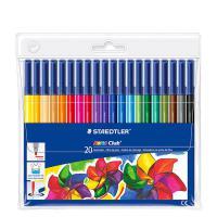 施德楼(STAEDTLER)326WP20 可水洗水彩笔 20色/盒 整盒装