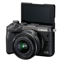 佳能(Canon)EOS M6 微单相机套机 15-45微单镜头 黑色 一年质保