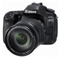 佳能(Canon)EOS 80D 数码相机 APS画幅传感器 2420万像素 3英寸显示屏 自动对焦 无内置存储 加配EF-S 18-200mm f/3.5-5.6 IS镜头+128G内存卡+相机包 ...