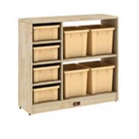 三新 SX42 六格柜(不含盒)桦木多层材质 100*40*70cm