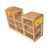三新 SX46 区角凹型柜 幼儿园家具 松木材质 100*35*70cm