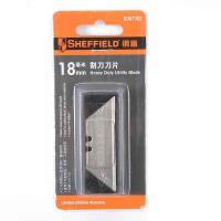 钢盾(SHEFFIELD)S067302 裁纸刀 重型割刀刀片18mm(每包10片) 12包/箱 单箱