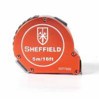 钢盾(SHEFFIELD)S077505 卷尺 铝合金自锁卷尺5m 12个/包 单包