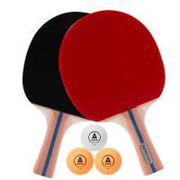 安格耐特(Agnite)F2331 乒乓球拍(正红反黑)(2个/副)(横拍带三球) 20副/箱 单箱