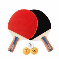 安格耐特(Agnite)F2366B 乒乓球拍直拍对拍(正红反黑)(2支/副)(带三球) 20副/箱 单箱