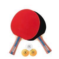 安格耐特(Agnite)F2366A 乒乓球拍横拍对拍(正红反黑)(2个/副)(带三球) 20副/箱 单箱