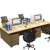 蒂派斯 DPS0515 经济型双人位台式电脑桌 尺寸:1400*1200 米白色