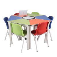 光达(GD)八角梯形八人组合桌 单个尺寸150cm*75cm