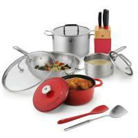 双立人(ZWILLING)ZW-C137 厨房十件套装 优良不锈钢 红色