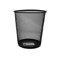 欧标(MATE01ST)F4613 垃圾桶 网格圆形纸篓 单个 黑色