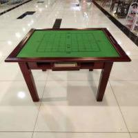 智汇 HY0603-067 家用实木餐桌 麻将桌 桌面尺寸88*88*75cm 绿色
