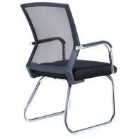 中伟 S133-01 会议椅 电脑椅 不锈钢脚全黑