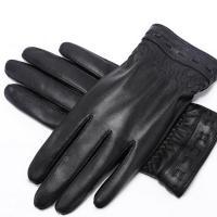 稻草人(MEXICAN)DCR-31177 皮手套 可触屏保暖防水 黑色