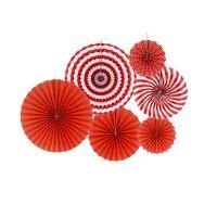 红利 红花系 纸画扇