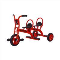豪气宝贝 5166 儿童三轮车 PVC轮材质 可带人 红色 120*58*65cm