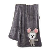 梦洁美颂 1050500952 鼠来宝双面法兰绒毯 90cm*120cm 单条