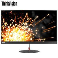 联想(Lenovo)ThinkVision X27q 27英寸液晶显示器 HDMI/DP接口 2560X1440分辨率 IPS面板 屏幕比例16:9 一年保修