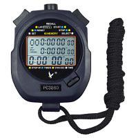 天福 PC3860 多功能秒表计时器闹钟 三排60道 黑色