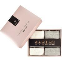 金号(KING SHORE)HY1118-8 毛巾 清然系列 双条礼盒装 单盒 灰色+米白色