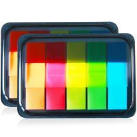 得力(deli)9069 荧光膜指示标签贴 44*12mm200张5色