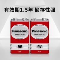 松下(Panasonic)6F22ND/1S 9V碳性方形干电池 适用于万用表遥控器话筒报警器玩具 10节盒装