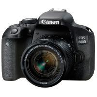 佳能(Canon)EOS 800D 單反相機 APS畫幅CMOS傳感器 約2420萬有效像素 3英寸顯示屏 自動對焦 配EF-S 18-55mm f/4-5.6 IS STM鏡頭+64G存儲卡+原裝電...