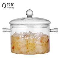 佳佰 DG1437/HZ 汤锅 透明双耳耐热玻璃锅 1500ml 单个