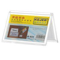 科记文具(KEJEA)三角台牌031 台牌三角台卡加厚双面透明台座台签会议多规格  深圳发韵达  55*90MM