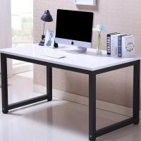 鑫金虎(XIN JIN HU)XJF-BGZ-01电脑桌台式家用书桌办公桌人造板桌子简约现代卧室书桌 白色+黑架