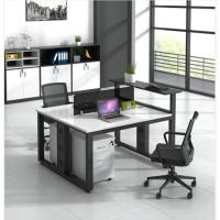 鑫金虎(XIN JIN HU)XJF-BGZ-010办公家具桌椅组合 简约现代职员办公桌钢架屏风桌 二人位(120cm*120*75cm不含柜椅)