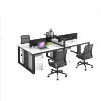 鑫金虎(XIN JIN HU)XJF-BGZ-011办公家具桌椅组合 简约现代职员办公桌钢架屏风桌 四人位(240cm*120cm*75cm不含柜椅)