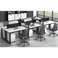 鑫金虎(XIN JIN HU)XJF-BGZ-012办公家具桌椅组合 简约现代职员办公桌钢架屏风桌 六人位(360cm*120cm*75cm不含柜椅)
