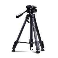 云腾(YUNTENG)VCT-668 佳能单反相机三脚架(80D 70D 60D 77D 800D 760D750D 4000D 200D 90D 100D M5 M6) 黑色 15天质保