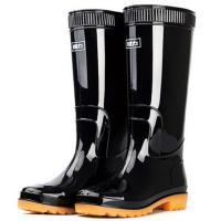 回力(Warrior)HXL807 高筒防水雨鞋 黑色 42码