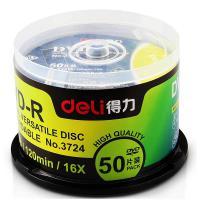 得力(deli)3724 刻录光盘 DVD-R 50片/筒 雾银