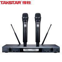 得胜(TAKSTAR)X6 一拖二无线话筒 U段可调频无线麦克风 一年保修 黑色