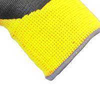 3M 舒适型防滑耐磨手套劳保劳防手套/防护手套/丁腈掌浸手套 多色 黄色 XL