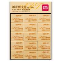 得力(deli)7534 橡皮 绘图考试4B橡皮擦 30块/盒 单盒 黄色