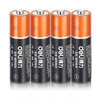 得力(deli)18501 电池 大容量碱性电池 4粒/卡 单卡