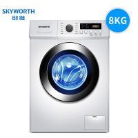 创维(Skyworth)XQG80-B09M 8KG大容量全自动滚筒洗衣机 单台 白色